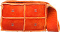 """Luxury Accessories:Bags, Chanel Orange Suede & Shearling Shoulder Bag with GunmetalHardware. Good to Very Good Condition. 9"""" Width x 5.5""""Heig..."""