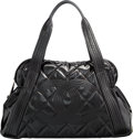 "Luxury Accessories:Bags, Chanel Black Quilted Patent Leather Tote Bag with Silver Hardware.Very Good to Excellent Condition. 18"" Width x 10""H..."