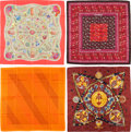 "Luxury Accessories:Accessories, Hermes Set of Four; 90cm Silk Scarves. Excellent Condition.36"" Width x 36"" Length. ... (Total: 4 Items)"