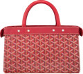 "Luxury Accessories:Bags, Goyard Red Goyardine Canvas Tote Bag. Very Good Condition.11"" Width x 7"" Height x 4"" Depth. ..."