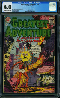 My Greatest Adventure #52 (DC, 1961) CGC VG 4.0 CREAM TO OFF-WHITE pages