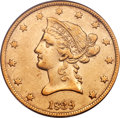 Liberty Eagles, 1839 $10 Type of 1840, Small Letters XF40 PCGS....