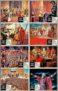 "The Ten Commandments (Paramount, R-1972). Lobby Card Set of 8 (11"" X 14""). Drama. ... (Total: 8 Items)"