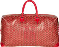 "Luxury Accessories:Bags, Goyard Red Goyardine Canvas Travel Bag. Excellent Condition.26"" Width x 13"" Height x 9"" Depth. ..."
