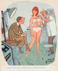 "Mainstream Illustration, Dink Siegel (American, 1910-2003). ""I'm Trying to get my SonInterested in Medicine,"" Playboy cartoon, March 1966. Gouac..."