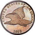 Proof Flying Eagle Cents, 1858 1C Large Letters, Snow-PR1, PR66 PCGS....