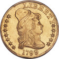 1799 $5 Small Reverse Stars, BD-6, R.5 -- Smoothed -- PCGS Genuine. AU Details....(PCGS# 519880)
