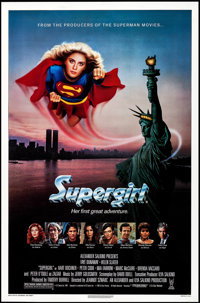 """Supergirl & Other Lot (Tri-Star, 1984). One Sheets (2) (27"""" X 40.5"""" & 27"""" X 41""""). Ad..."""