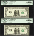 Error Notes:Miscellaneous Errors, Fr. 1932-B $1 2006 Federal Reserve Notes. Ten Consecutive Examples. PCGS Very Choice New 64-Gem New 66PPQ.. ... (Total: 10 notes)
