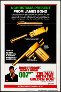 "The Man with the Golden Gun (United Artists, 1974). One Sheet (27"" X 41"") Flat Folded Advance. James Bond"