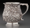 Silver Holloware, American:Cups, An American Silver Floral Repoussé Cup, circa 1890. Marks:STERLING (rubbed), JAS. (rubbed) RMIGER CO.,12. 3-1/...