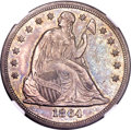 Seated Dollars, 1864 $1 AU55 NGC....