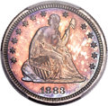 Proof Seated Quarters, 1883 25C PR66+ PCGS. CAC. Briggs 1-A....