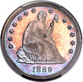 Proof Seated Quarters, 1889 25C PR66+ PCGS. Briggs 2-B....