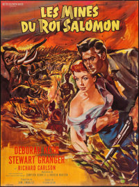 """King Solomon's Mines (MGM, R-1960s). French Grande (45"""" X 61""""). Adventure"""