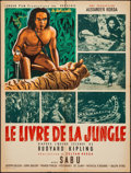 "Movie Posters:Adventure, Jungle Book (London Film, 1945). First Post-War Release FrenchAffiche (24.25"" X 32.25""). Adventure.. ..."