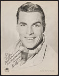 "Movie Posters:Adventure, Buster Crabbe (Paramount, 1930s). Autographed Fan Club PortraitPhoto (8.5"" X 11""). Adventure.. ..."