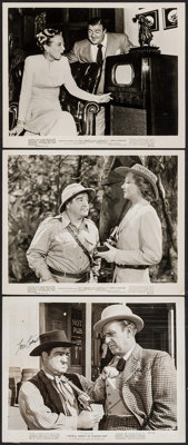 """Abbott and Costello Lot (1947/R-1953). Autographed Photo & Photos (2) (Approx. 8"""" X 10""""). Comedy. ... (Tot..."""