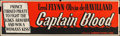 "Movie Posters:Adventure, Captain Blood (Dominant Pictures, R-1956). Autographed Silk ScreenBanner (24"" X 82""). Adventure.. ..."