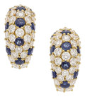 Estate Jewelry:Earrings, Diamond, Sapphire, Gold Earrings, Tiffany & Co.. ... (Total: 2Items)