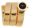 Estate Jewelry:Watches, Bvlgari Lady's Gold Tubogas Bracelet Watch. ...