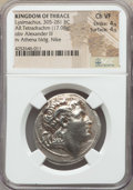 Ancients:Greek, Ancients: THRACIAN KINGDOM. Lysimachus (305-281 BC). AR tetradrachm(17.08 gm). NGC Choice VF 4/5 - 4/5...