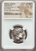 Ancients:Greek, Ancients: ATTICA. Athens. Ca. 454-404 BC. AR tetradrachm (17.15gm)....