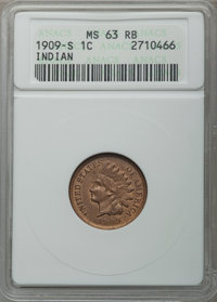1909-S 1C MS63 Red and Brown ANACS....(PCGS# 2239)