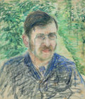Works on Paper, Camille Pissarro (French, 1830-1903). Portrait d'Alfred Isaacson, circa 1883. Pastel on paper. 19-3/4 x 16-3/4 inches (5... (Total: 2 Items)