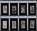 Boxing Cards:General, 1938 F.C. Cartledge Knock-Out Razor GAI Graded Collection (18)....