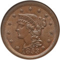 1853 1C N-13, R.1, MS65 Brown NGC. CAC. NGC Census: (2/0). PCGS Population (0/0). Mintage: 6,641,131. CDN Wsl. Price for...