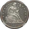 Seated Dollars: , 1841 $1 -- Improperly Cleaned -- NGC Details. Mintage: 173,000. . From the Dr...