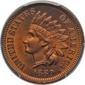 1880 1C MS65 Red PCGS. PCGS Population (48/18). NGC Census: (17/8). Mintage: 38,964,956. CDN Wsl. Price for problem free...