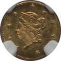 California Fractional Gold , 1871 50C Liberty Round 50 Cents, BG-1011, R.2, MS66 NGC. NGCCensus: (10/5). PCGS Population (14/3). ...