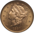 1891-S $20 MS63 NGC. NGC Census: (515/62). PCGS Population (866/103). Mintage: 1,288,125. CDN Wsl. Price for problem fre...