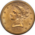 Liberty Eagles: , 1885-S $10 MS62 PCGS. PCGS Population (267/111). NGC Census: (238/62). Mintage: 228,000. CDN Wsl. Price for problem free NG...