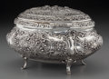 Silver Holloware, Continental:Holloware, A German Silver Covered Table Box, circa 1890. Marks: 800,(crescent), (crown), (diamond-EN). 5-1/4 h x 8-3/4 w x 6-1/4 ...