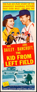 """Movie Posters:Sports, The Kid from Left Field (20th Century Fox, 1953). Insert (14"""" X 36""""). Sports.. ..."""