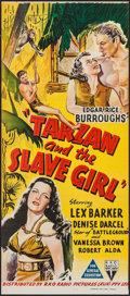 "Movie Posters:Adventure, Tarzan and the Slave Girl (RKO, 1950). Australian Post-War Daybill(13"" X 30""). Adventure.. ..."