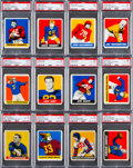 Football Cards:Sets, 1948 Leaf Football Complete Set (98). ...