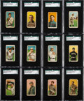 "Baseball Cards:Lots, 1909-11 T206 White Borders Collection (145) With 16 Brown ""Hindu""Backs. ..."