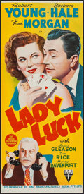 "Movie Posters:Comedy, Lady Luck (RKO, 1946). Australian Post-War Daybill (13"" X 30""). Comedy.. ..."