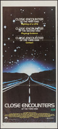 "Movie Posters:Science Fiction, Close Encounters of the Third Kind (Columbia, 1977). Australian Post-War Daybill (13.5"" X 29.75""). Science Fiction.. ..."