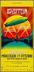 """Movie Posters:Rock and Roll, Led Zeppelin: Celebration Day (Omniverse Vision, 2012). ItalianLocandina (12.5"""" X 26.5""""). Rock and Roll.. ..."""