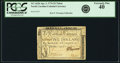 Colonial Notes:North Carolina, North Carolina April 2, 1776 $5 Triton Fr. NC-162b. PCGS ExtremelyFine 40.. ...