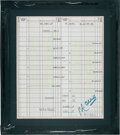 Golf Collectibles:Autographs, 1993 Ryder Cup Signed Score Sheets Lot of 3....