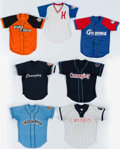 Baseball Collectibles:Uniforms, Collection of Seven Game Used Cuban Baseball Jerseys (7). ...