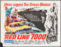 """Movie Posters:Sports, Red Line 7000 (Paramount, 1965). Half Sheet (22"""" X 28""""). Sports.. ..."""
