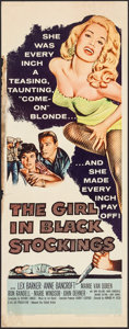 "Movie Posters:Crime, The Girl in Black Stockings (United Artists, 1957). Insert (14"" X36""). Crime.. ..."
