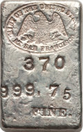 5.55-Ounce Type One San Francisco Mint Silver Ingot
